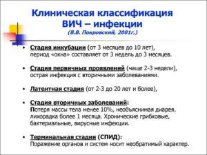 классификация ВИЧ